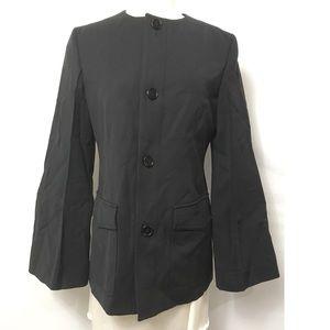 Marni 42 US 6 Diagonal Compact Jacket Wool Dark